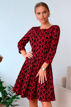 Новинка: красное жаккардовое платье Open Style